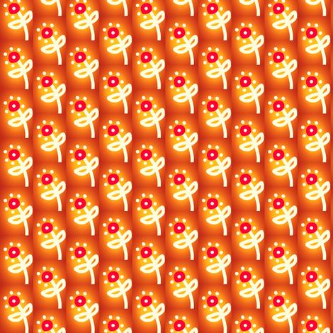 Orange Glow Flowers fabric by eve_catt_art on Spoonflower - custom fabric