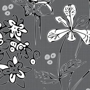 Botanical in dark gray