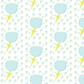poppy fields Medium 525-sea glass