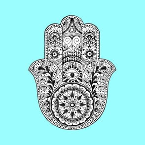 Hamsa Fabric Wallpaper Gift Wrap
