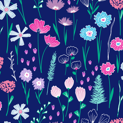 Botanical Sketchbook fabric by rebecca_stoner on Spoonflower - custom fabric