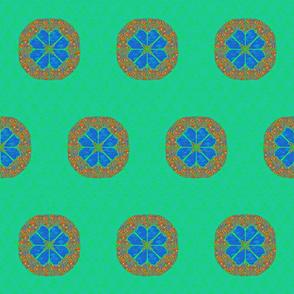 mandala blue/green