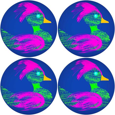 BIG CRAFTS Neon Duck Fleet fabric by eve_catt_art on Spoonflower - custom fabric