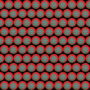 Small Sage Apples Red Circles