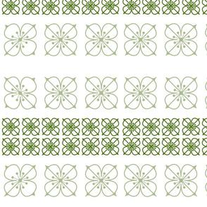 Square Flowers Verde II