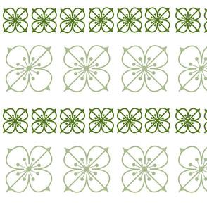 Square Flowers Verde