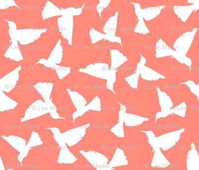 Hummingbirds__FF8B7C_Coral_white