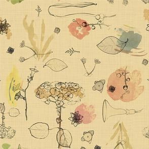 Botanical Cream linen
