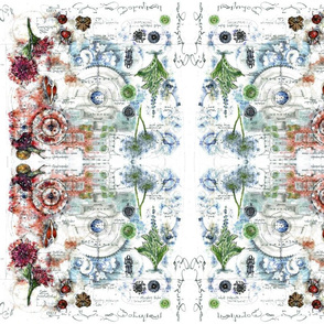 Botanical Garden sketchbook kaleidoscope