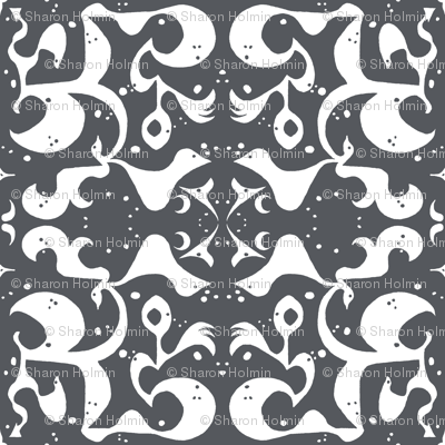 FRONT PORCH Charcoal & Ivory