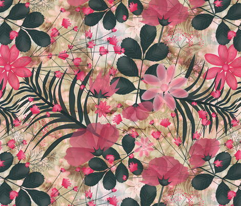 Botanical sketchbook fabric by kociara on Spoonflower - custom fabric