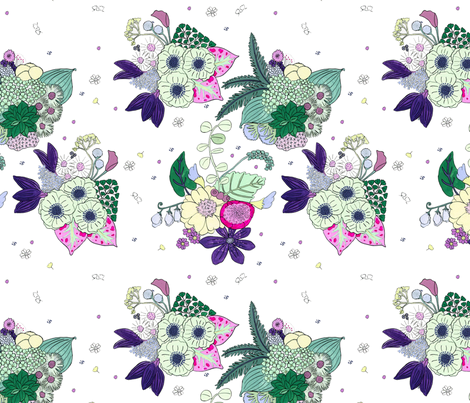 Flower Cluster fabric by erikarier on Spoonflower - custom fabric