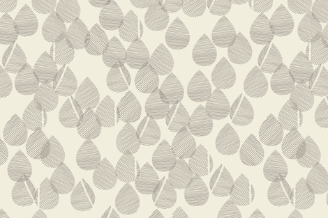 Drops - Stone & cream  fabric by docious_designs_by_patricia_braune on Spoonflower - custom fabric