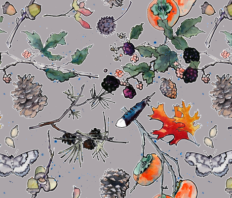 Autumn in My Garden fabric by anntuck on Spoonflower - custom fabric