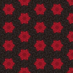 Red Quilted Stars