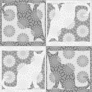 Cat Damask 19, Black & White 4