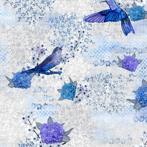 Chinoiserie Blue 100x49 cm repeat