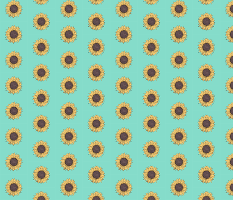 Sunflower fabric by indigo_iris on Spoonflower - custom fabric