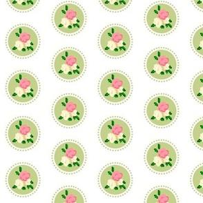 Pixel Rose Polka Dot Spring