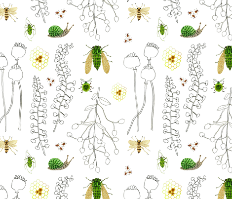 herbarium fabric by gollybard on Spoonflower - custom fabric