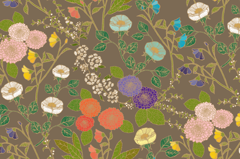 Wild Blooms fabric by ceciliamok on Spoonflower - custom fabric