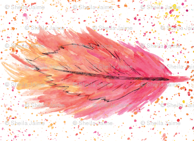 Fire & Water Feathers