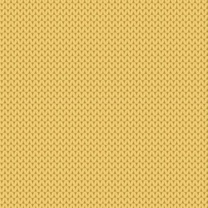 Retro Modern Knit solid in Yellow