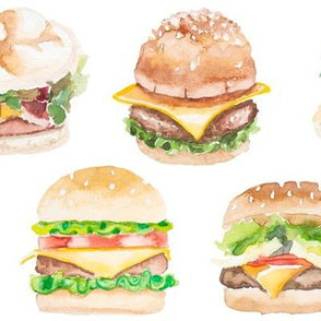 Watercolor Burgers