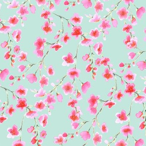Cherry Blossom Pink and Green