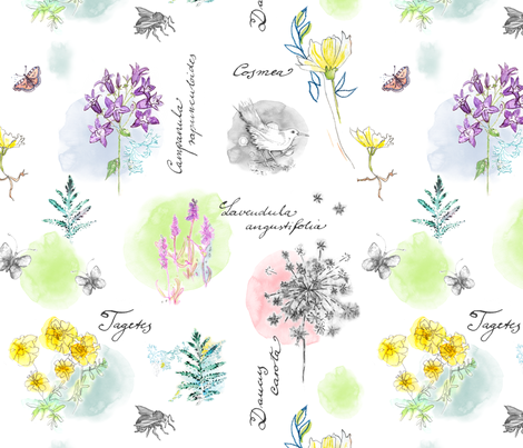 Rooftop Garden Book fabric by evamarion on Spoonflower - custom fabric