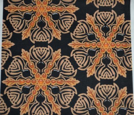 Black and Amber Vase Snowflake