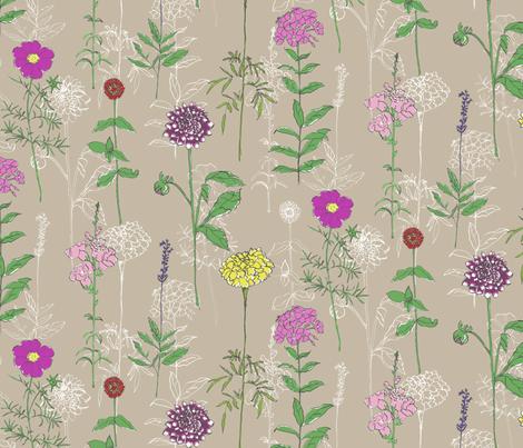 BloomingNow fabric by bluejoystudios on Spoonflower - custom fabric