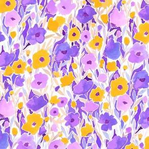 Flower Field Yellow Purple