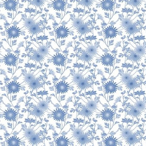 Springing Floral ~ Blue and White