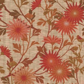 Springing Floral ~ Persephone ~ Linen Luxe
