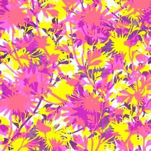 Springing Floral ~ La! on White