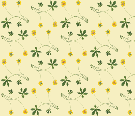 Creeping_Cinquefoil fabric by amanda_jane_textiles on Spoonflower - custom fabric