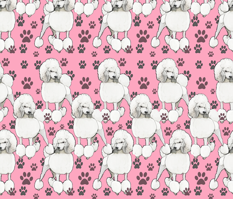 pink_poodles2 fabric by dogdaze_ on Spoonflower - custom fabric
