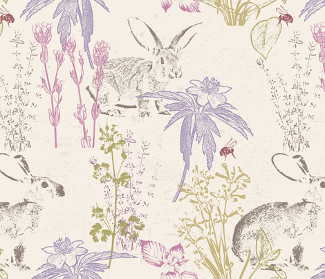 Wildflowers of the Tallgrass Prairie fabric by mariafaithgarcia on Spoonflower - custom fabric