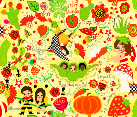 Cabbages and Kings Field Guide fabric by orangefancy on Spoonflower - custom fabric