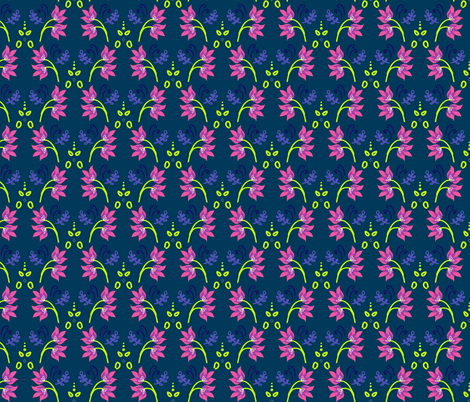 Tropical Botanical Flurish fabric by nat_williamson on Spoonflower - custom fabric