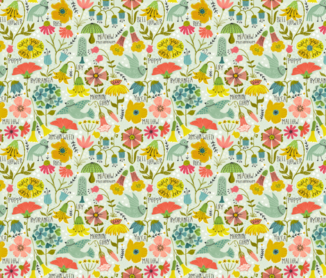 A Field Guide to Wildflowers fabric by studio_amelie on Spoonflower - custom fabric