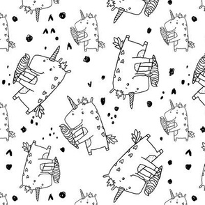 unicorn cecream pattern doodle