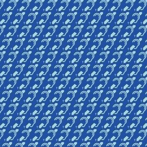 Tiny blue hearing loop
