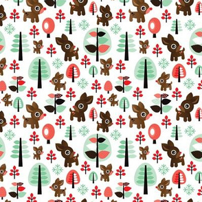 Retro reindeer christmas in powder pastel SMALL