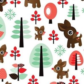Retro reindeer christmas in powder pastel LARGE