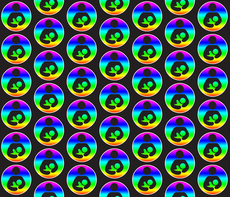 rainbow bf gradient fabric by audcolwes on Spoonflower - custom fabric
