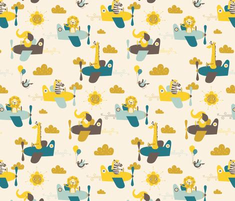 Sky Safari Small Scale fabric by zesti on Spoonflower - custom fabric