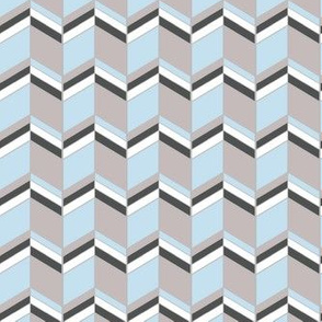 Chevron Grey Blue