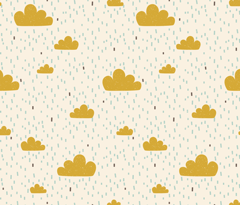 Sky Safari Clouds fabric by zesti on Spoonflower - custom fabric